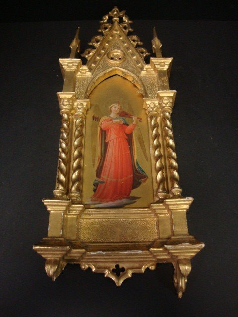 805: Hand painted  Gold Gilded Icon