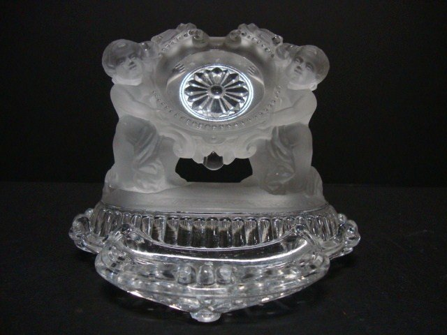 811A: Baccarat Figural Watch Holder