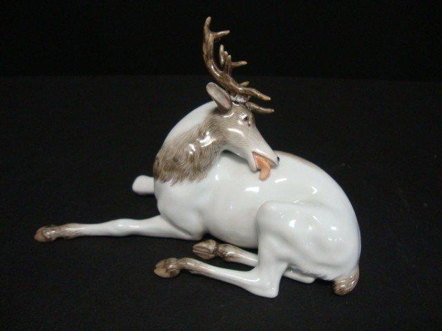 814: Meissen Elk Figure