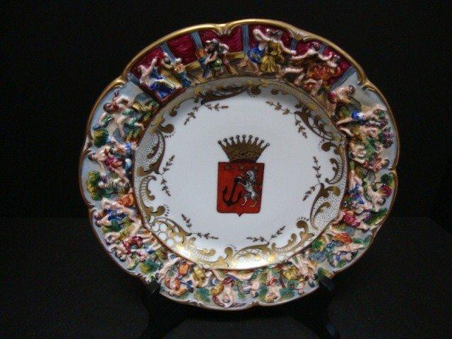815: Capodimonte Coat of Arms  Plate