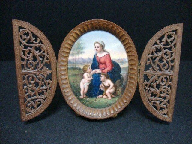 816: Painted Porcelain Plaque