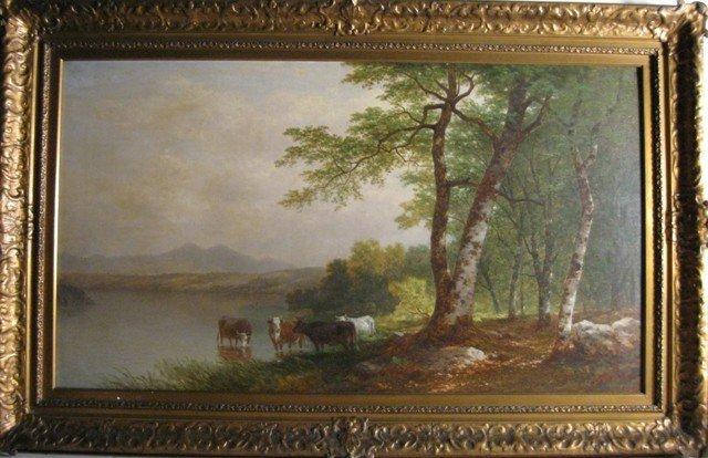 873: John William Casilear Oil On Canvas