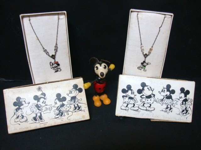 22A: Vintage Mickey and Minnie Mouse Necklaces