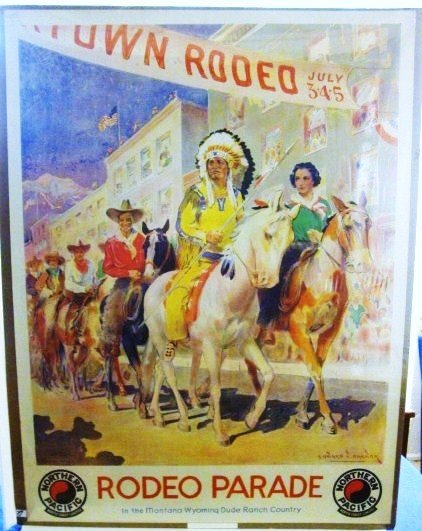 27: Northern Pacific Rodeo Parade Poster