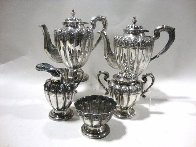 2001: Five Piece Mexican Sterling Coffee Set