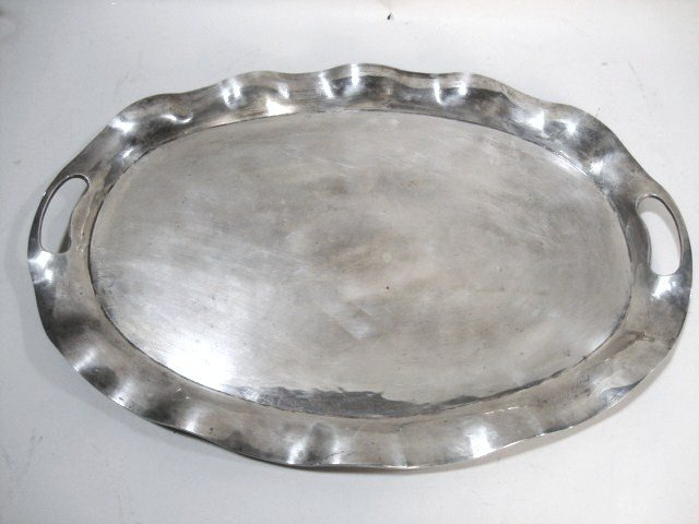 2003: Scalloped Sterling Serving Tray