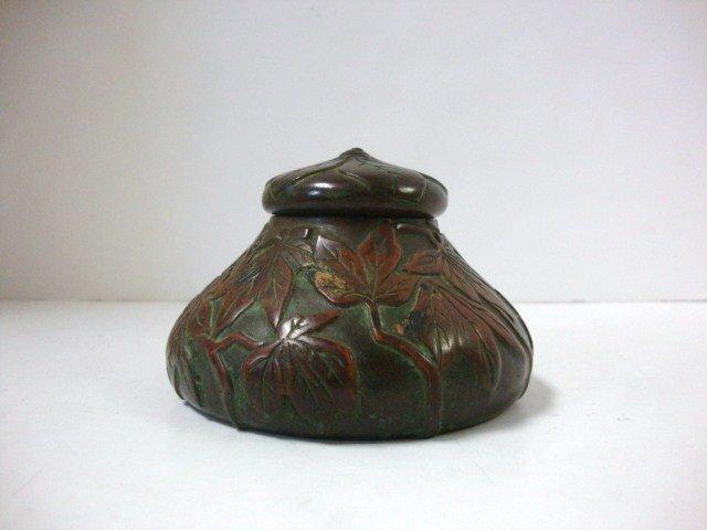 2074: Tiffany Studios Bronze Inkwell