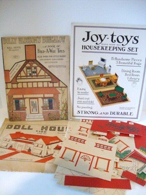 10: Paper Dollhouse Furniture Books