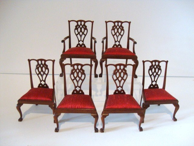 216: Six Tom Warner Chippendale Chairs