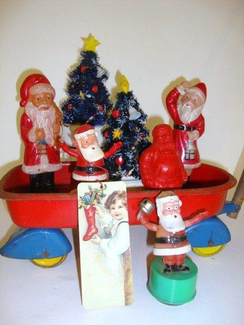 7: Wagon of Celluloid Santa's