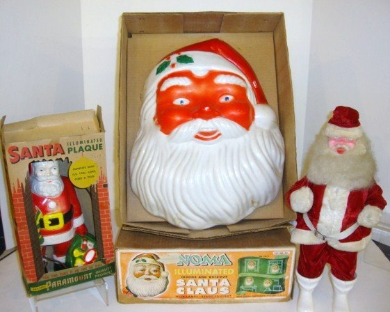 8: Plastic Santa Lights