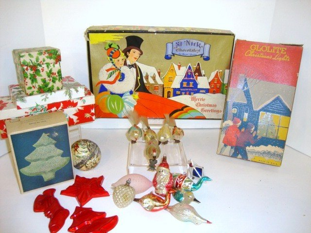 9: Christmas Boxes & Figural Ornaments