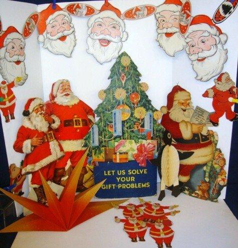 15: Christmas Decorations Advertising & Santas