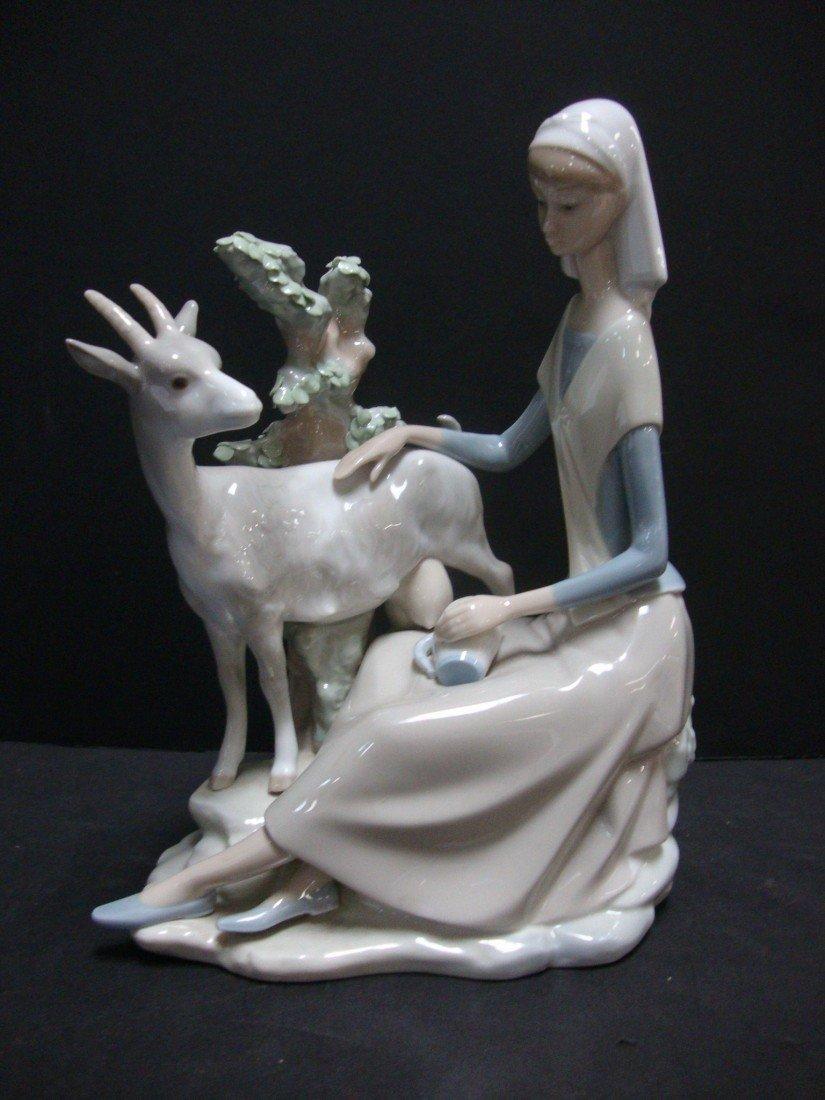 154: LLADRO Girl w/Goat