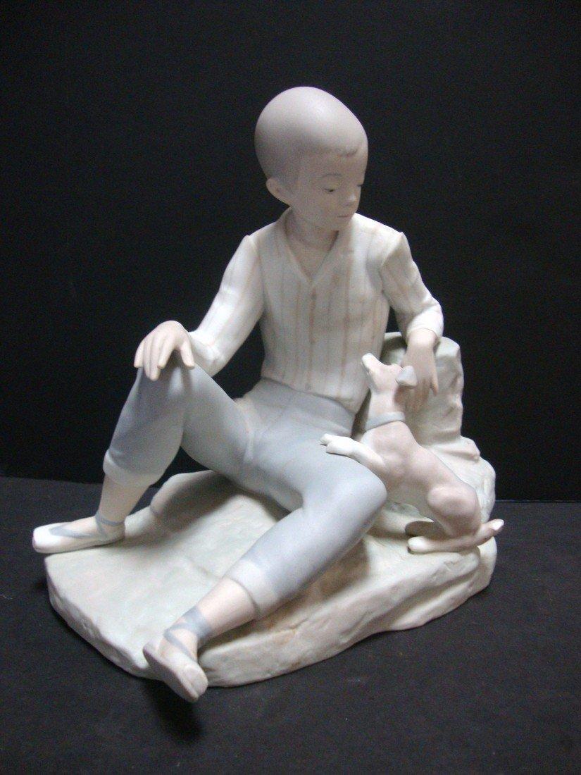 156: LLADRO Boy w/Dog