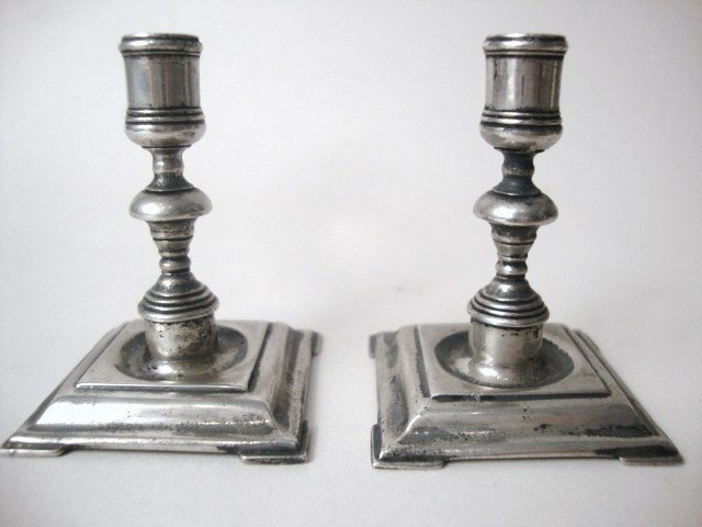 5: Meyers 17th -18th Century Style Pair of Candle Holde