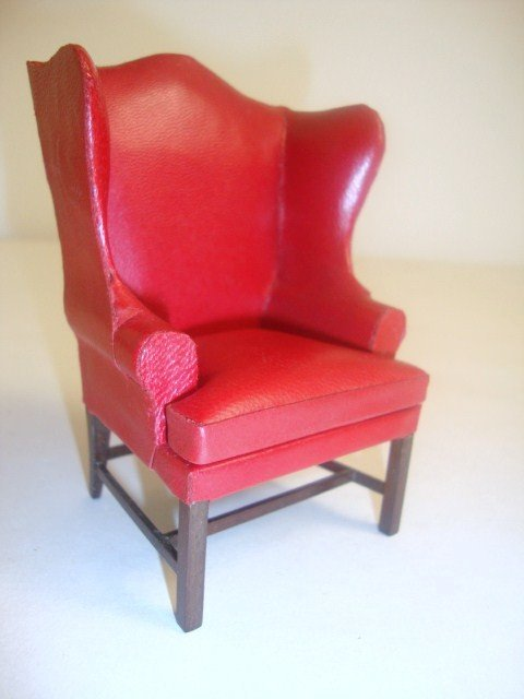 192: Eric Pearson Leather Wing Chair