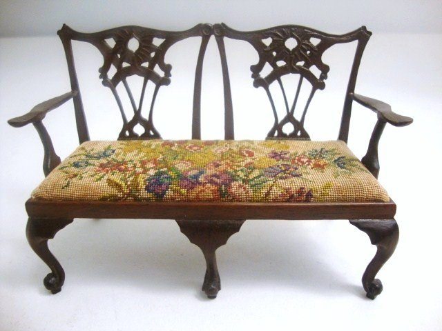 195: Eric Pearson Chippendale Settee