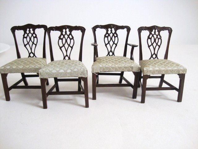 198: Four Eric Pearson Chippendale Chairs