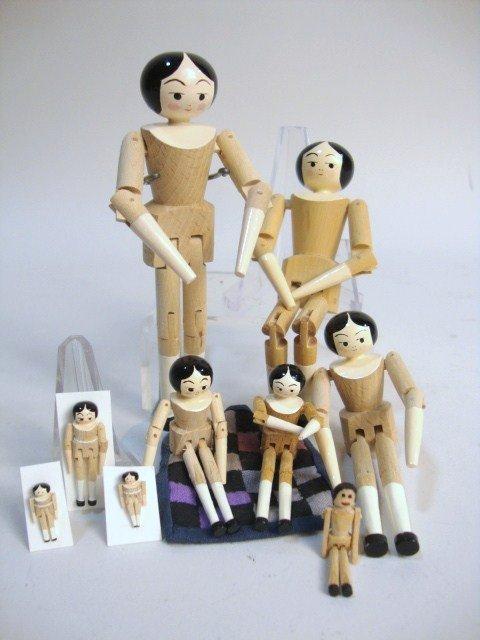 354: Eric Horne Peg Wooden Dolls