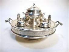 402: Sterling Silver Breakfast Set