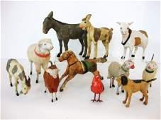501: Early German Sheep & Paper Mache Animals