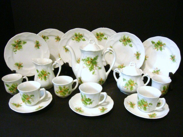 20: Child's German Tea Set with Holly