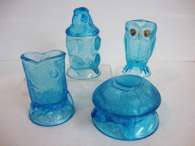 89: Child's Blue Menagerie Table Set