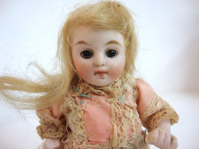 114: German All Bisque Doll - 2