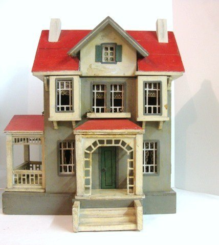 336: Gottschalk Red Roof Dollhouse