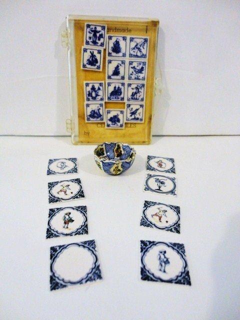 417: Deborah McKnight Bowl and Delft Tiles