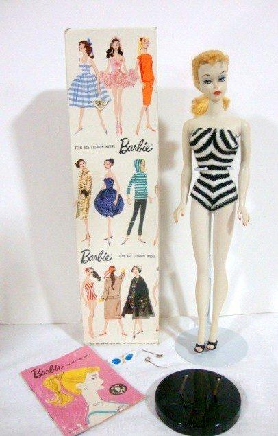 18: #1 Blonde Ponytail Barbie in Original Box