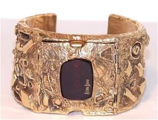 2: Heavy Arthur King Neiman Marcus 14K Cuff Watch