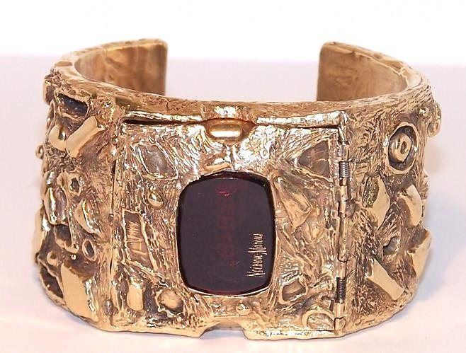 2: Heavy Arthur King Neiman Marcus 14K Cuff Watch