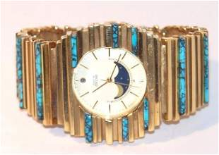3: 18K Arthur King Seiko Watch with Turquoise
