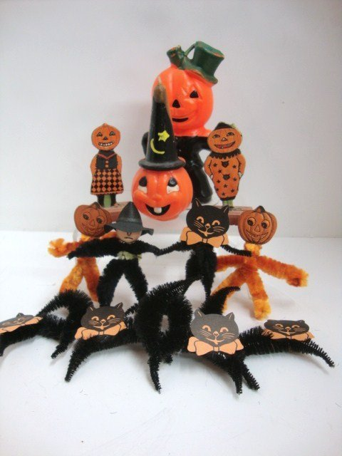 9: Grouping of Halloween Decorations
