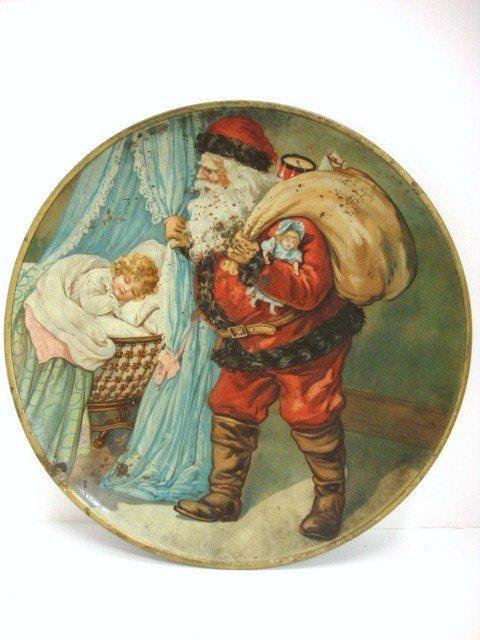 17: Tin Santa Plate