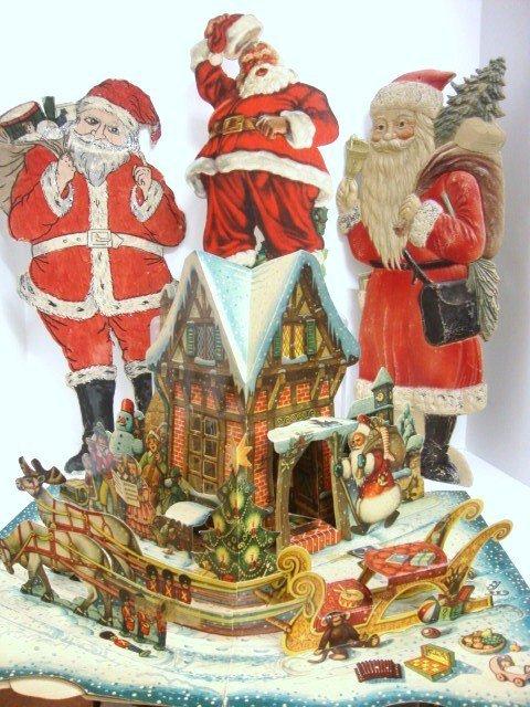 24: Four Paper Santas