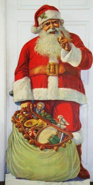 45: Advertising Cardboard Santa