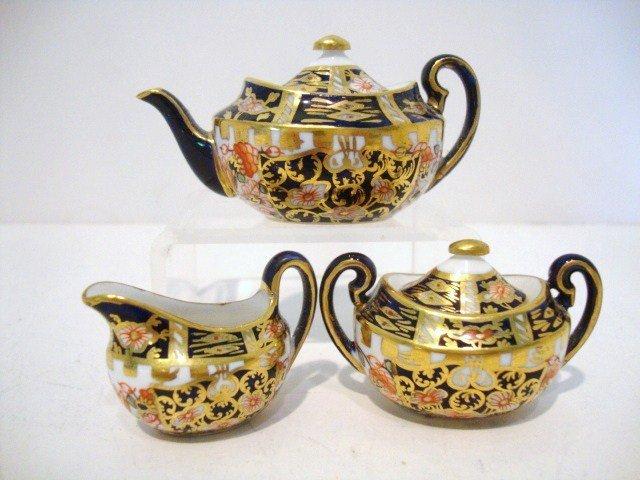 3: Miniature Crown Derby Tea Set