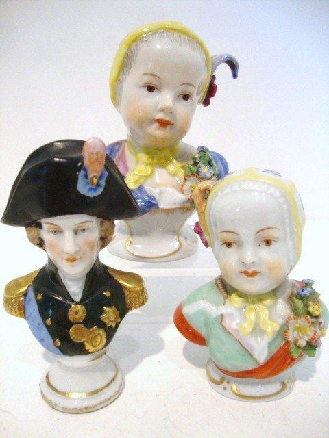 4: Miniature Porcelain Busts