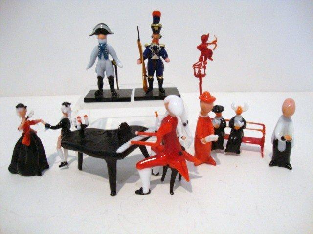 7: Miniature Venetian Glass Figures