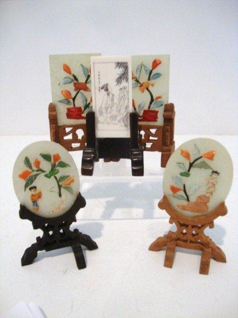 11: Miniature Jade Oriental Screens