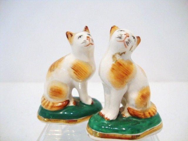 13: Miniature Staffordshire Cats