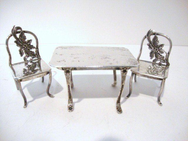 20: Sterling Table and Chairs