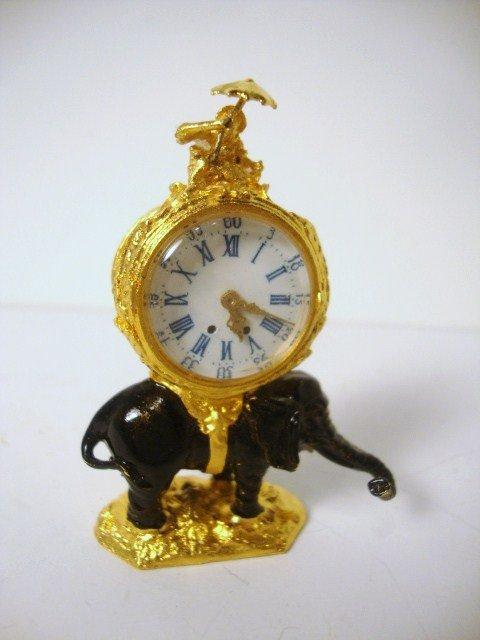 24: Gilt and Enamel Clock