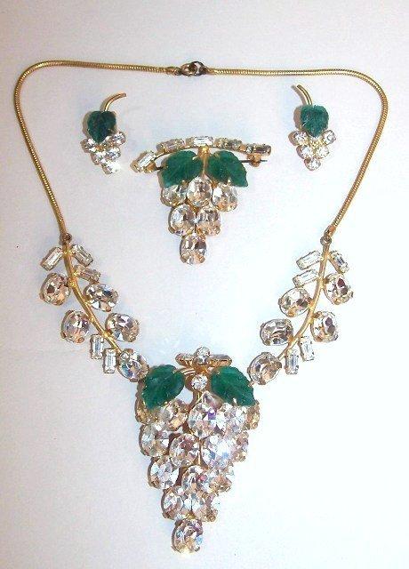 14: Crystal Grape Demi-Parure Jewelry Set