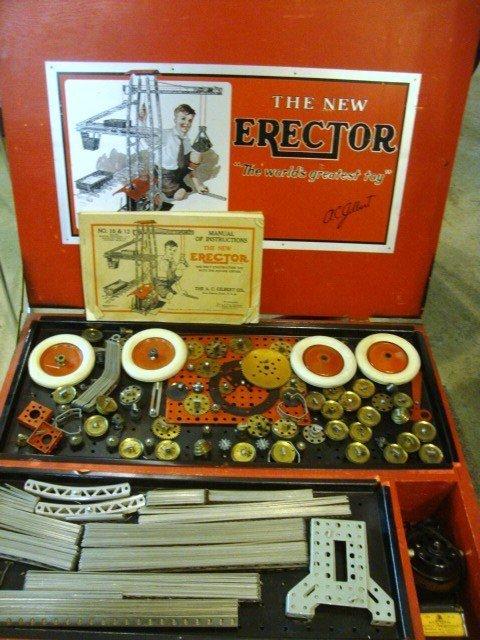 201: Gilbert Erector No. 10 & 12 Master Builder Set