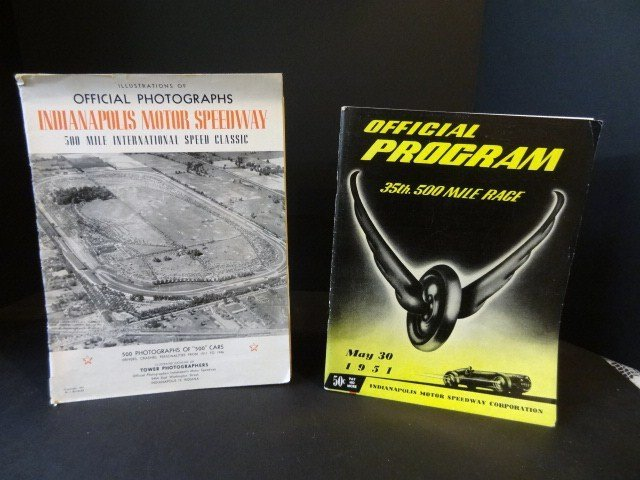 1951 Indy 500 Program and 1947 Photo Book