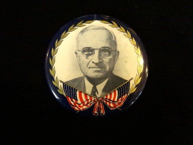 Truman Political Button